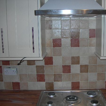 Ceramic Kitchen Wall Tiling using Multicoloured Kitchen Wall Tiles in Basildon