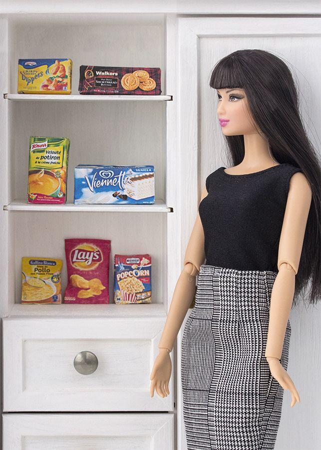 """Fondo de armario y suelo de """"mármol""""       Kit de fiesta imprimible de Barbie       Imprimible comida 1:6           Imprimible papel de r..."""