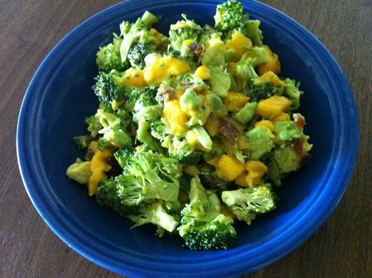 Mango, avocado and broccoli salad