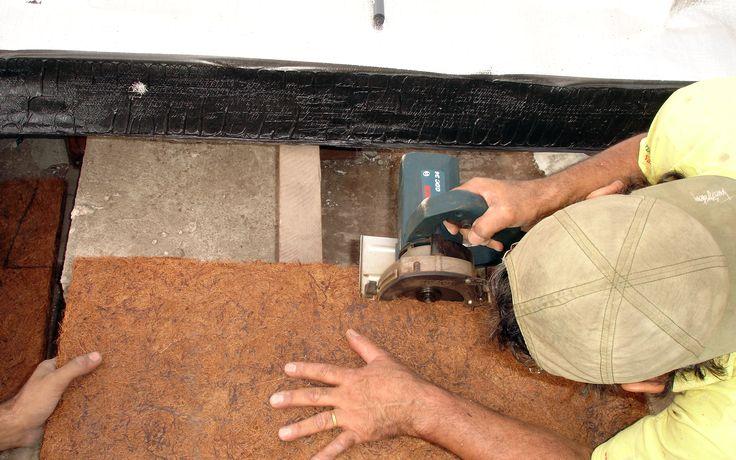 Isolamento Térmico com placas de Fibra de Coco. #FibradeCoco #Placas #IsolamentoTérmico #TratamentoTérmico #Térmico #CocoVerde #Reciclado #Reciclagem #Paisagismo #Jardinagem #Decoração