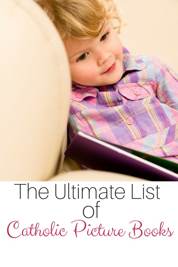 Create your own library of Catholic picture books with this ultimate list. This resource is amazing!