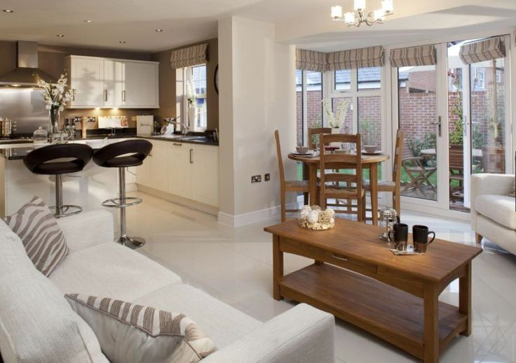 David Wilson Homes - The Larches (Offenham) - Kitchen/Dining/Living room.
