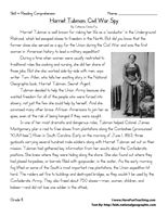 Harriet Tubman: Civil War Spy – Eighth Grade Reading Comprehension Test: Use the…