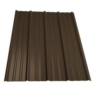 Metal Sales, 14 ft. Classic Rib Steel Roof Panel in Burnished Slate, 2313549 at The Home Depot - Mobile