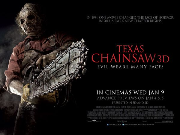Film News: New Quad Poster and Trailer for Texas Chainsaw 3D