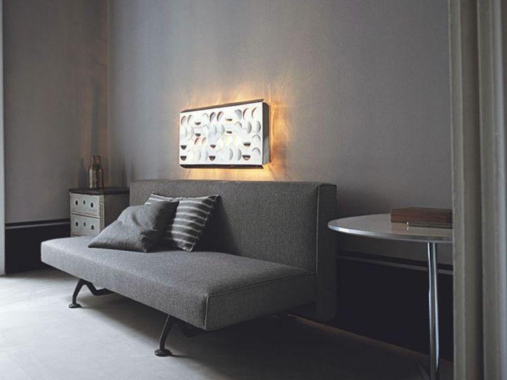 Sofá cama tapizado con funda extraíble SLIDING by Tacchini Italia Forniture | diseño Pietro Arosio