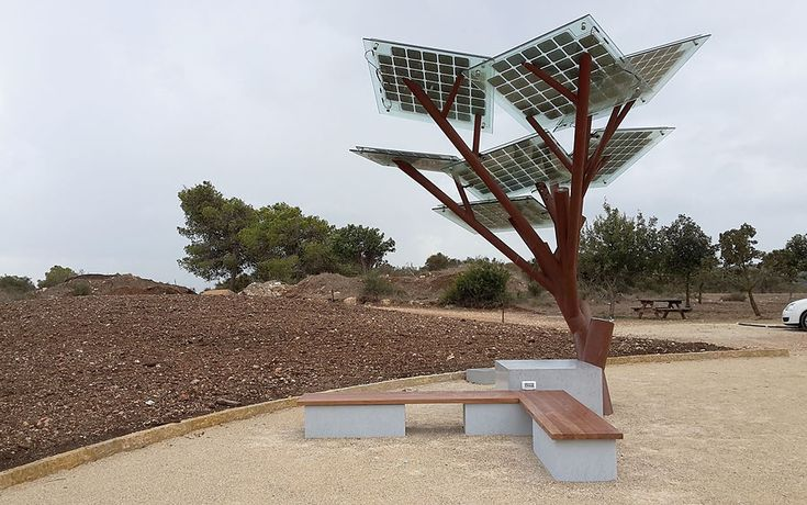 """Solar Trees are taking root around the world.""   ​Sologic's sustainable eTree provides free WiFi, a cold drink and more."