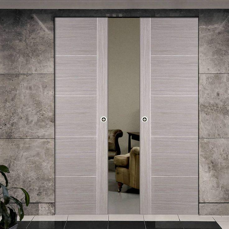 Light Grey Vancouver Syntesis Double Pocket Door - Prefinished & Best 25+ Double pocket door ideas on Pinterest | Pocket doors ... Pezcame.Com