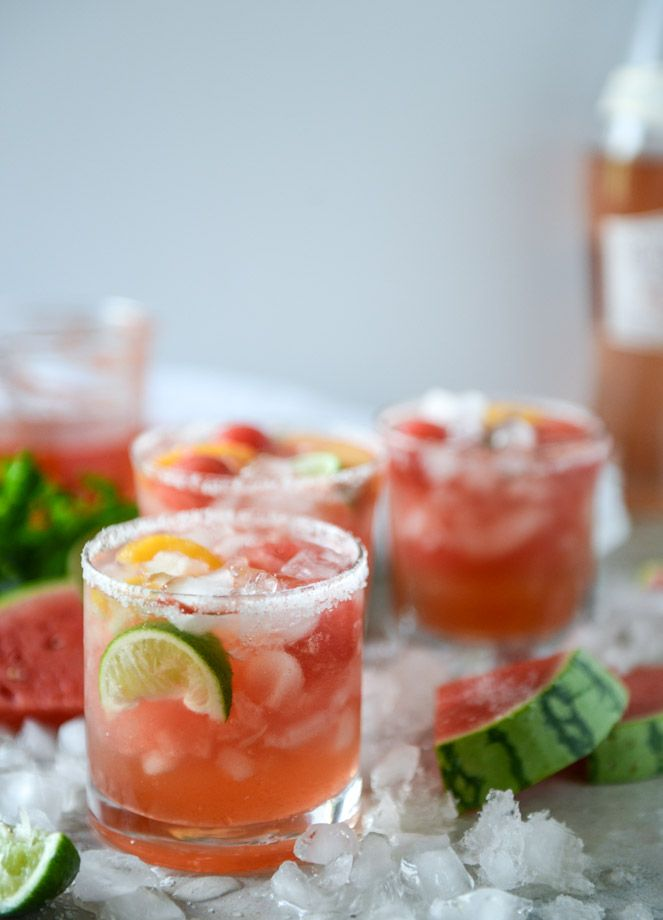 Signature wedding cocktail idea - Watermelon Rosé Margarita {Courtesy of How Sweet It Is}