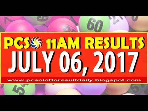 PCSO 11AM LOTTO RESULTS JULY 06, 2017 (SWERTRES & EZ2 LOTTO)