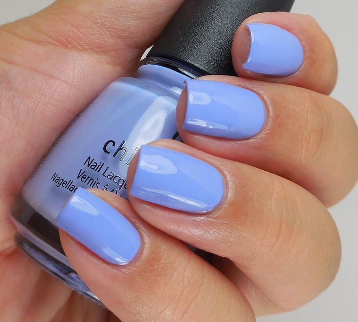 China Glaze: ❤️ Good Tide-ings ❤️ ... a periwinkle creme nail polish from the Holiday Collection 2016