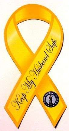 82nd Airborne Yellow Ribbon Magnet - ServiceFlags.com - #1 Source for   Service Flags and patriotic products