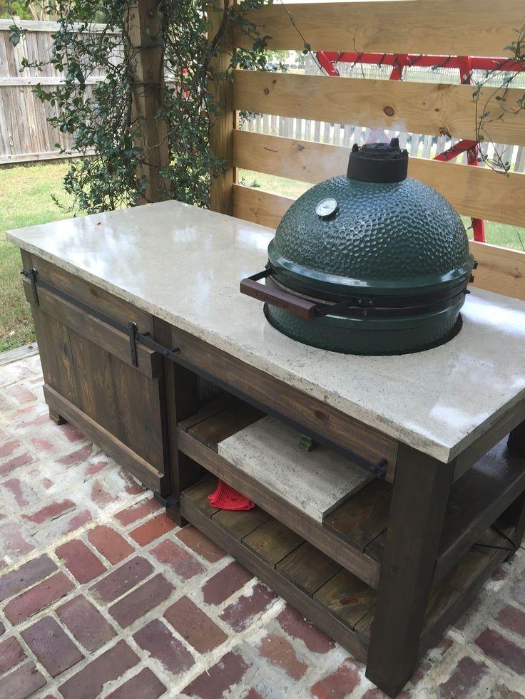 Fantastic Big Green Egg Table | Furniture | Pinterest | Big green ...