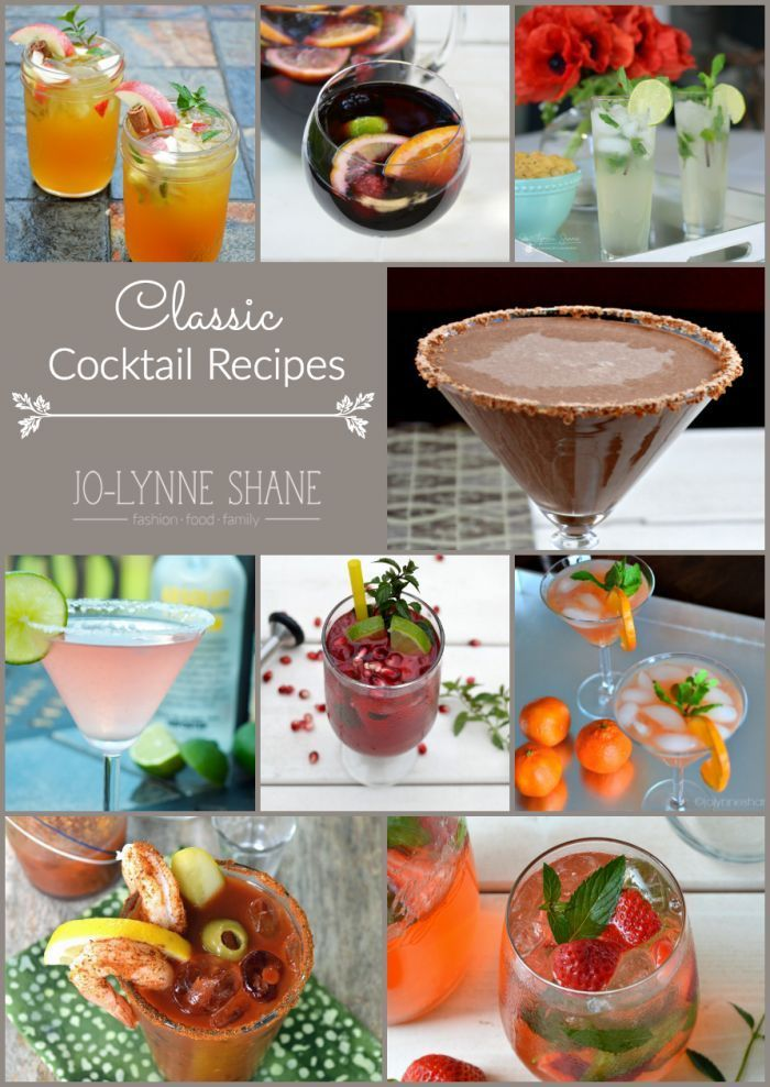 Classic Cocktail Recipes: Having a cocktail party? I have cocktails for every occasion!!! See all my cocktail recipes: http://www.jolynneshane.com/popular-cocktail-recipes