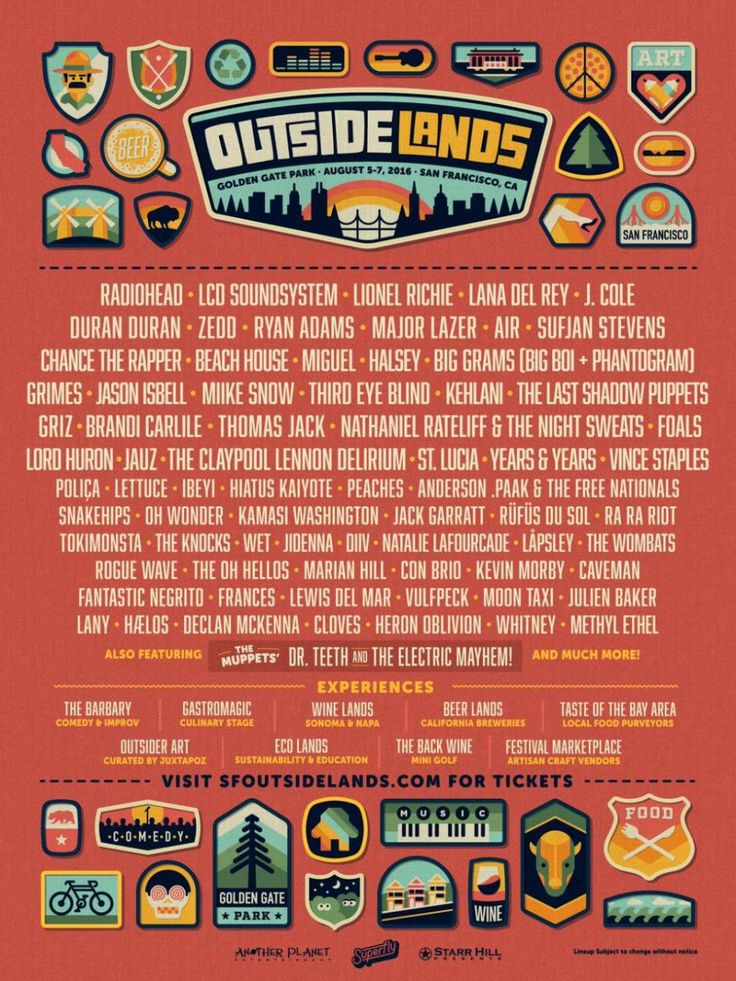 Outside Lands 2016 - this is happening! Three days of music, food, beer and Aimee, Jenn and more friends and family throughout the weekend! Added bonus - we are staying in a fabulous flat overlooking the ocean by the Cliff House. #lifedoesnotsuck
