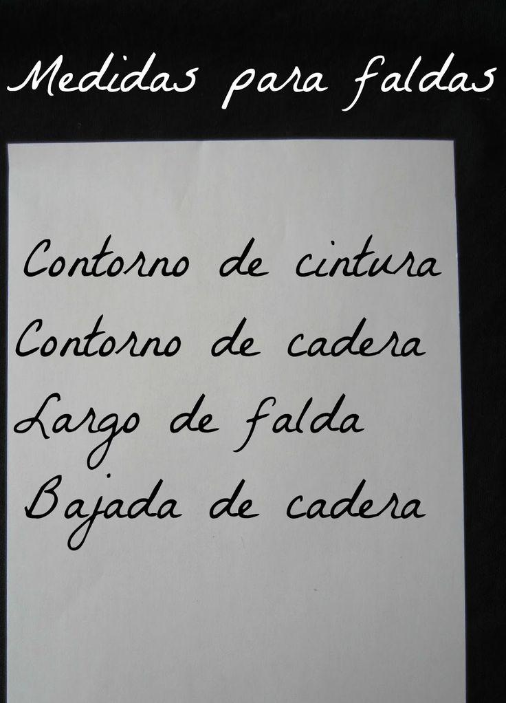 PATRONES DE COSTURA : PATRON BASICO DE FALDA