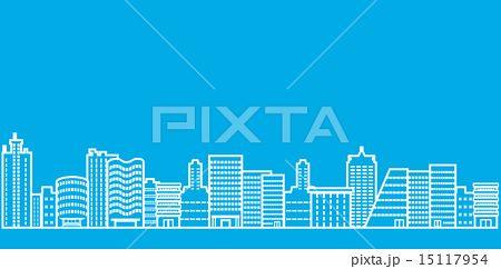 都会 ビル街 線画