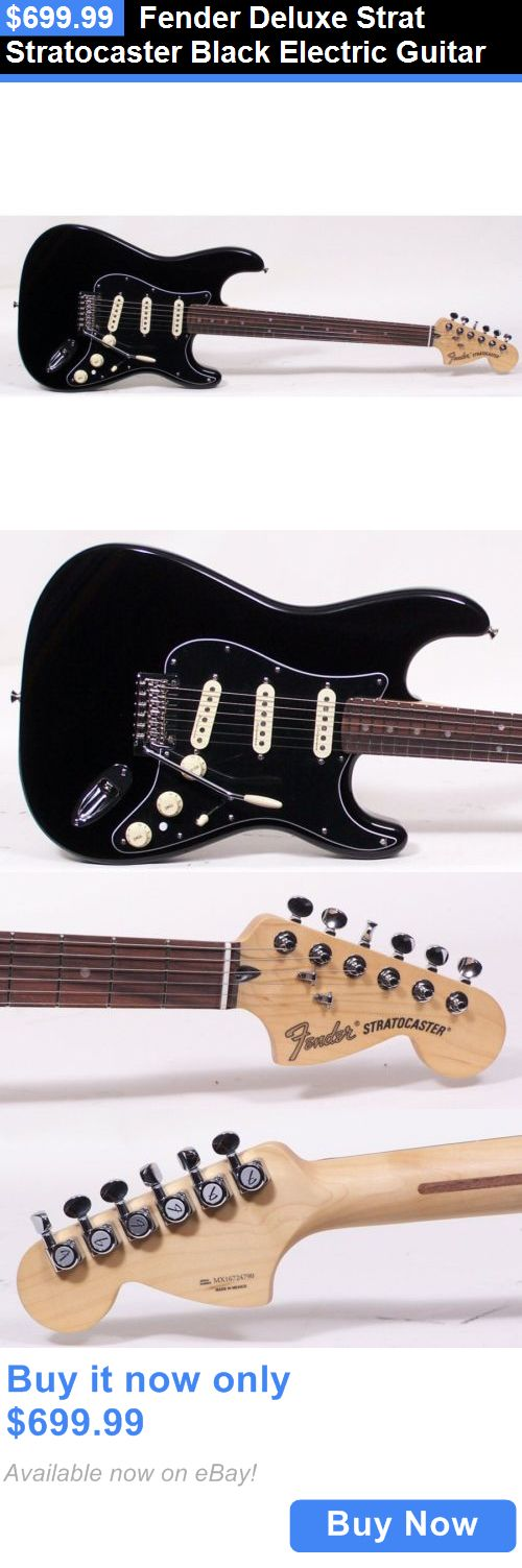 musical instruments: Fender Deluxe Strat Stratocaster Black Electric Guitar BUY IT NOW ONLY: $699.99