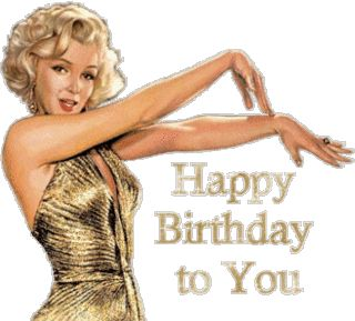 Happy Birthday Sweet Lady   Happy Birthday Marilyn