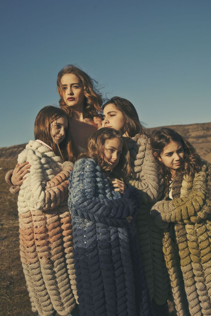 """Comfort and coziness ! Models are wearing cardigan named """"Tulip"""" by Lalo…"""