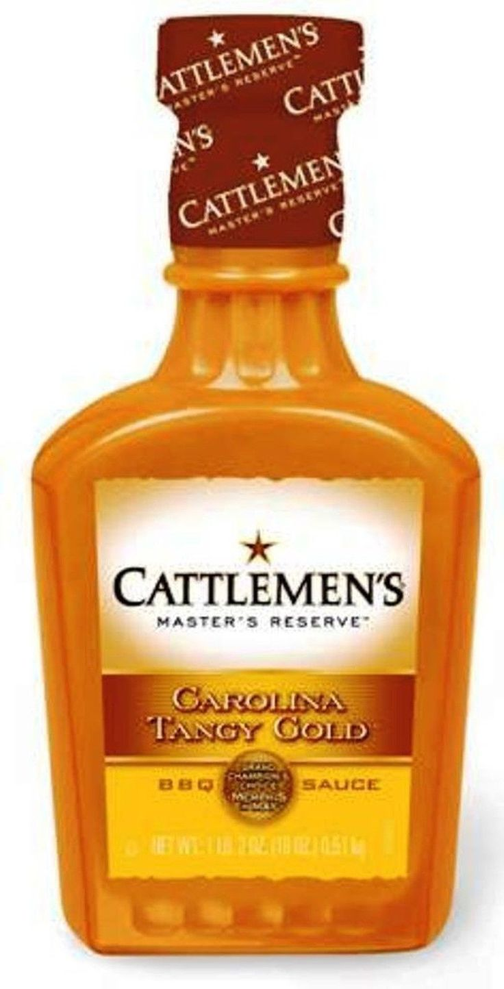 Cattlemen's Barbecue Sauce Carolina Tangy Gold 18-ounce Plastic Bottles