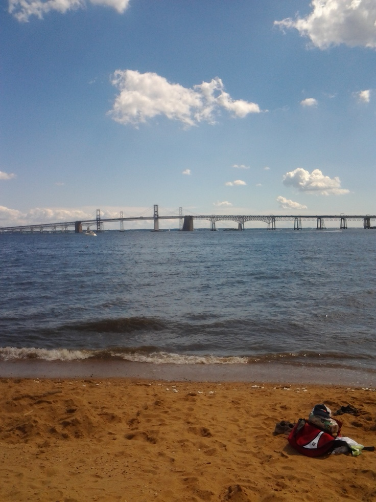 Sandy Point Park with the Bay Bridge in view...