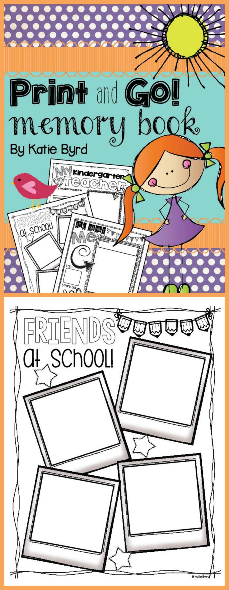 Kindergarten Memory Book Cover Ideas : End of the year memory book writing supplements no prep