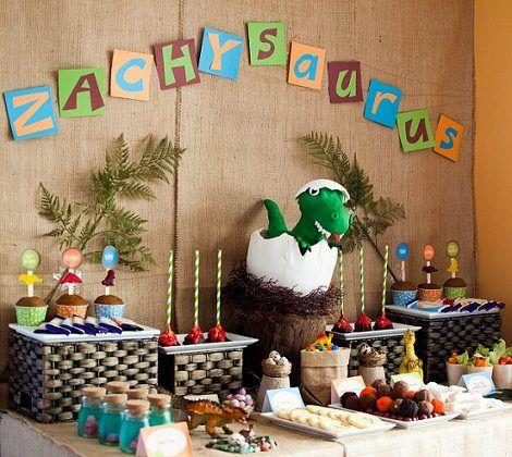 decoracion diy fiesta de dinosaurios para niños - Buscar con Google