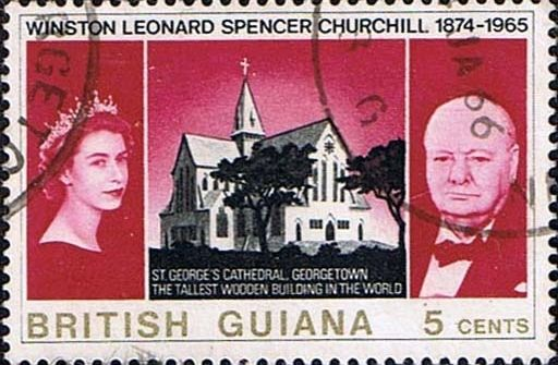 British Guiana 1966 Churchill Set Fine Used SG 574 5 Scott 297 8 Other British Guiana Stamps For Sale HERE