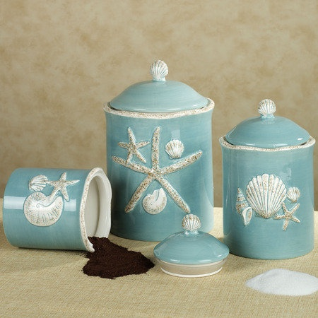themed kitchen canisters coastal canisters coastal decorative accessories
