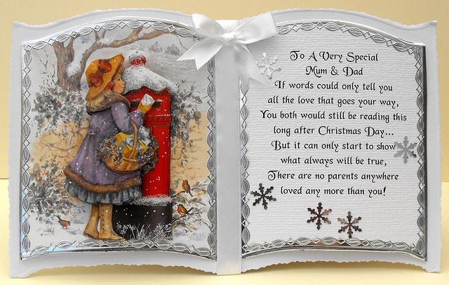 bookatrix decoupaged christmas card...precious verse!
