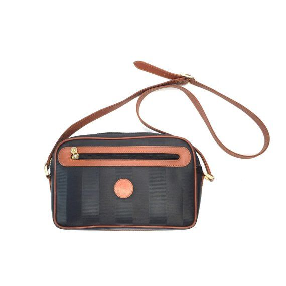 Authentic Vintage Fendi Stripe Crossbody Bag Etsy In 2020 Crossbody Bag Bags Vintage Crossbody Bag