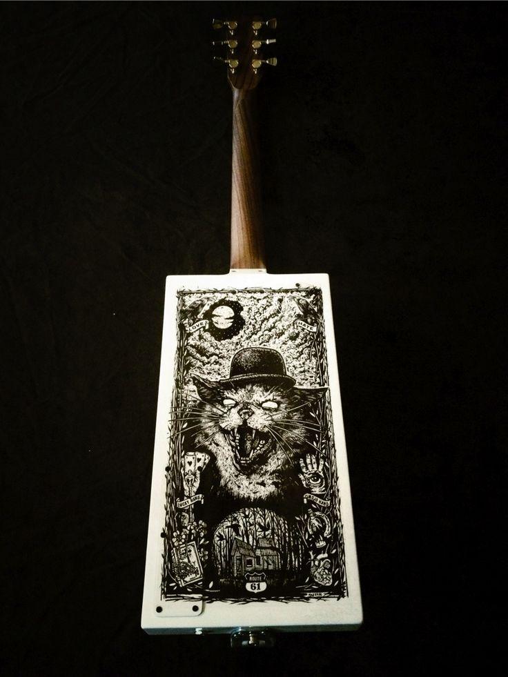 Manu Lanvin by MeloDuende Guitars - Aluminium Guitars - Handmade in France.