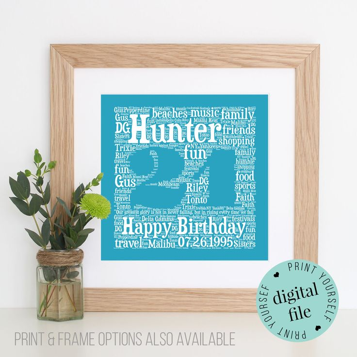 Personalised 21ST BIRTHDAY GIFT - Personalised Gift - 21st - Gift for her - Printable Gift - Bespoke Gift - Gift for Him - 21st Birthday by WordlyDesigns on Etsy
