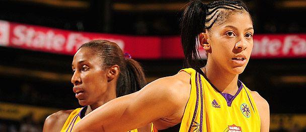Lisa Leslie (left) and Candace Parker, WNBA