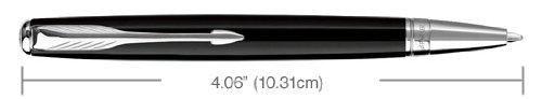 Parker Sonnet Black Lacquer Chrome Trim Ballpoint Pen