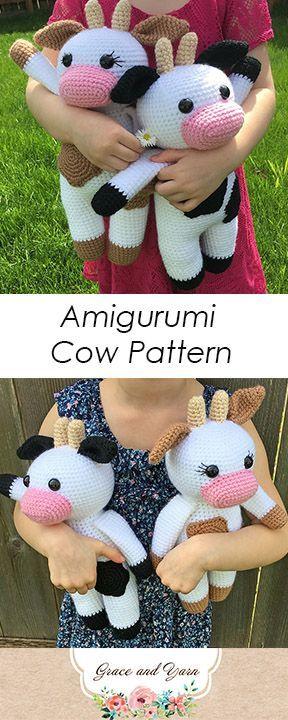 Amigurumi Cow Pattern - A Free Tutorial