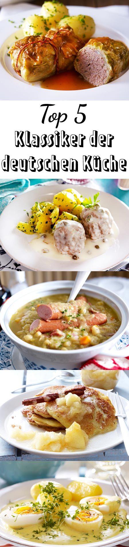 Die besten Top 5 Rezepte der deutschen Küche für dich auf einen Blick. Welches Rezept gefällt dir am besten? Koche es gleich nach!