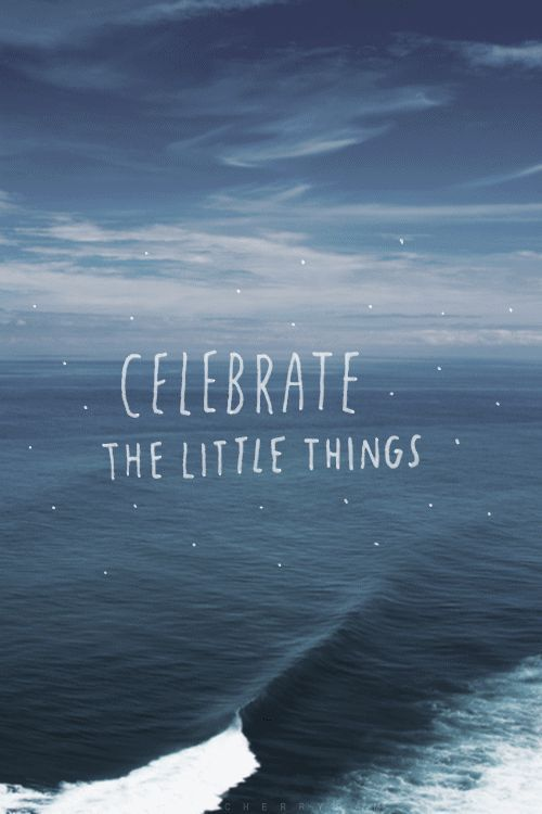 Inspiring Quotes About Life It's Always The Little Things Impressive Celebrating Life Quotes