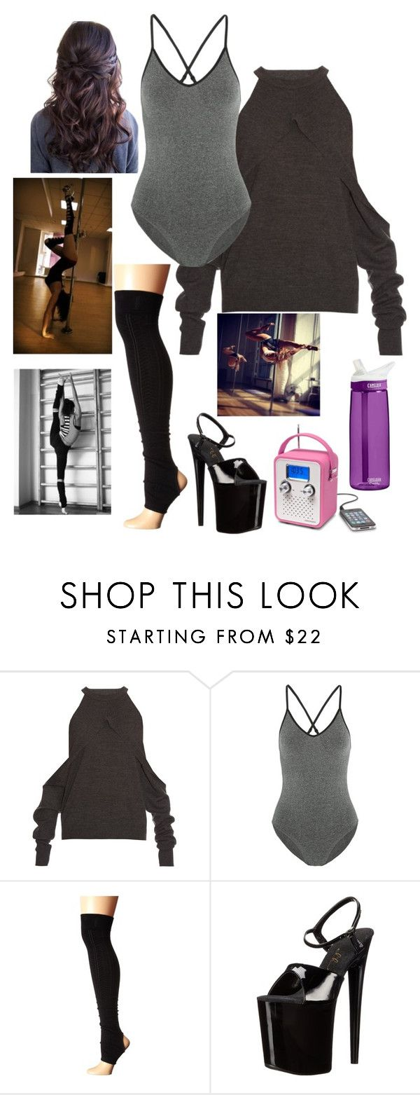 """Eddie: Pole Dancing"" by dottieonthemoon ❤ liked on Polyvore featuring Dion Lee, Ivy Park, ToeSox and Ellie Shoes"