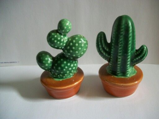Vintage cactus salt and pepper shakers