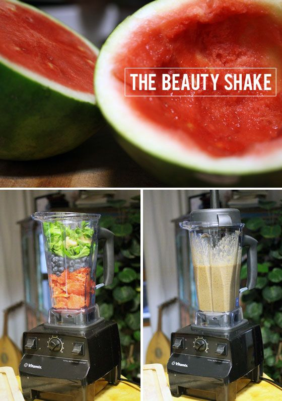 The Beauty Shake - A Green Shake Recipe For a Healthy Glow