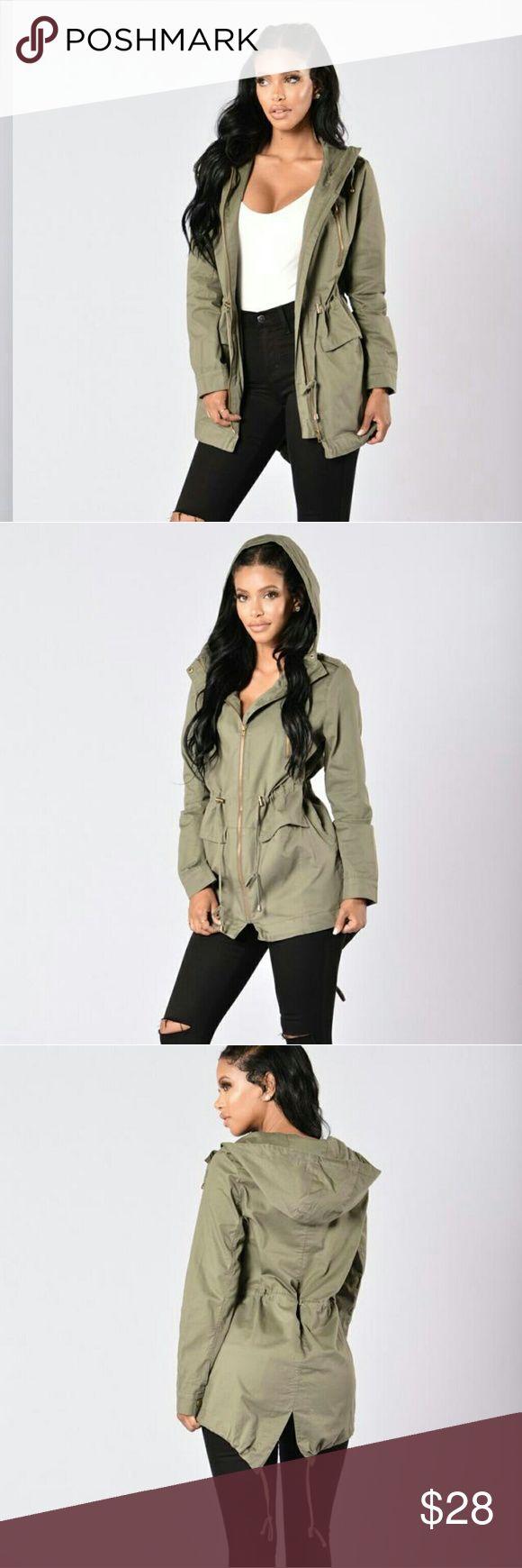 FASHION NOVA Olive Jacket Color olive. Used a few times Fashion Nova Jackets & Coats