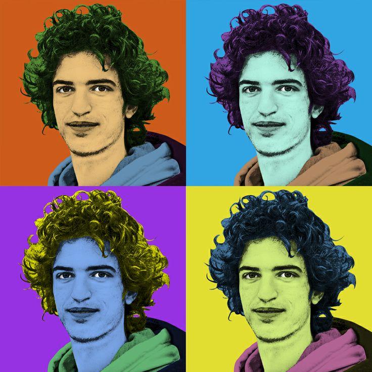 Un esempio di immagine transformata in Warhol pronta per essere stampata in un quadro su tela