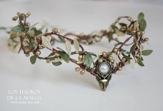 woodland tiara deer crown made to order by Ayalga on Etsy