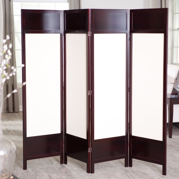 Griffin Canvas 4 Panel Room Divider - Rosewood $139