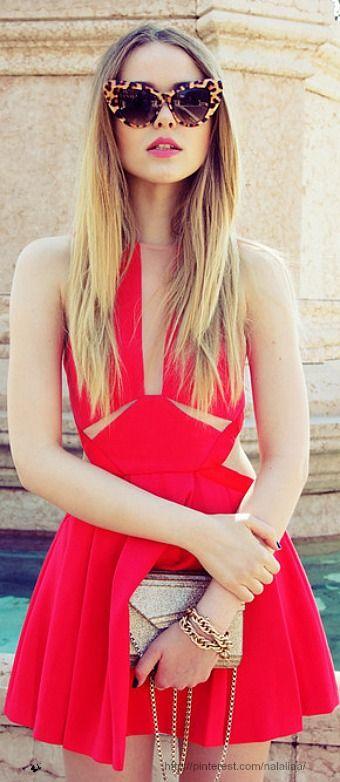 Street style ♥ little red dress