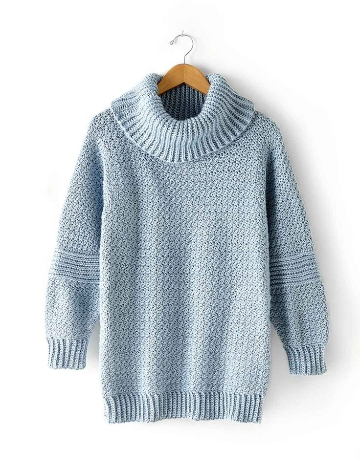 Over Easy Cowl Neck Jumper - free pattern @ Yarnspirations, thanks so for freebie share xox ☆ ★ https://www.pinterest.com/peacefuldoves/