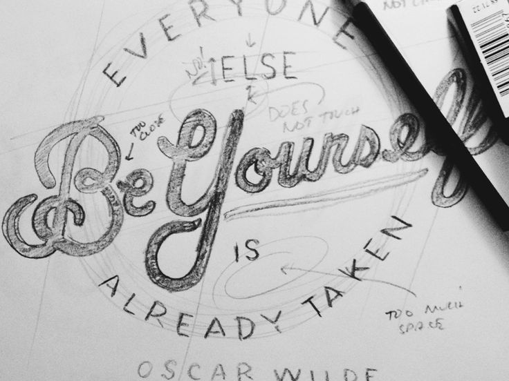 Download Be Yourself (Annotation) | Hand lettering inspiration ...