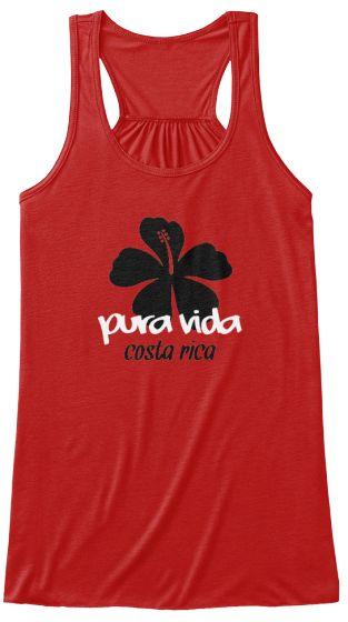 Costa Rica Hibiscus Pura Vida Tank   Teespring
